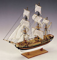 Constructo 1/110 HMS Bounty 3-Masted Frigate Ship w/solid wood hull (Intermediate)