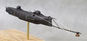 Cottage H.L. Hunley Confederate Submarine (11-1/2L) Resin Model Submarine Kit 1/72 #72001