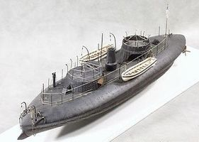 Cottage USS Keokuk Union Ironclad Warship (19-1/2''L) Plastic Model Military Ship Kit 1/96 #96001