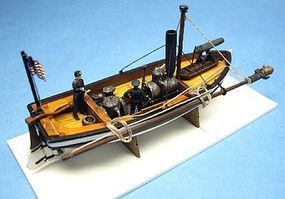 Cottage Lt. William Cushings US Steam Picket Boat Plastic Model Military Ship Kit 1/96 #96007