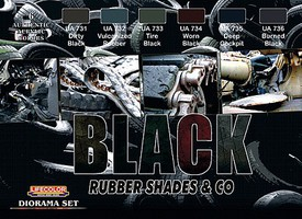 Creations Black Rubber Shades & Co