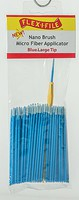 Creations Nano Brush Bulk Pack Blue Large Tip, 100-Pack