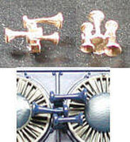 Cal-Scale Airhorns (Unpainted Brass Casting) Leslie S-3L - 2 Bells Forward, 1 Back - HO-Scale