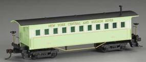 Mantua 1860s-Era Wooden Coach New York Central & Hudson River HO Scale Model Train Car #717100