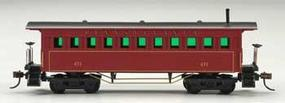 Mantua 1860 Wooden-Type Coach Pennsylvania HO Scale Model Train Passenger Car #717520