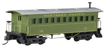 Mantua by Model Power 1860s-Era Wooden Coach Northern Pacific -- HO Scale Model Train -- #718004