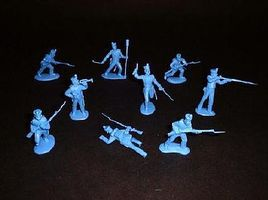 Toy-Soldiers Alamo Mexican Infantry Set #2 (12) Plastic Model Military Figure 1/32 Scale #102
