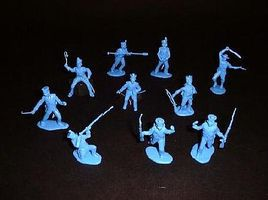 Toy-Soldiers Alamo Mexican Infantry Set #3 (12) Plastic Model Military Figure 1/32 Scale #103