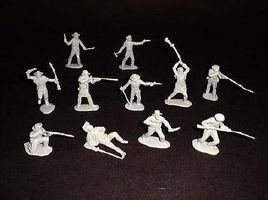 Toy-Soldiers Alamo Texan Defenders (12) Plastic Model Military Figure 1/32 Scale #111