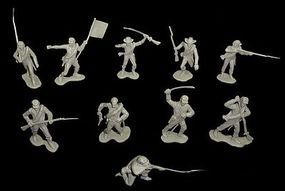 Toy-Soldiers Civil War Confederate Infantry (22) Plastic Model Military Figure 1/32 Scale #122