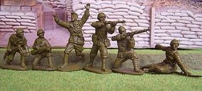 Toy-Soldiers WWII Gurkhas Infantry (14) Plastic Model Military Figure 1/32 Scale #127