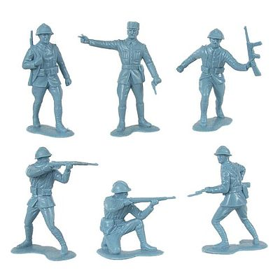 Toy-Soldiers WWII French Infantry (12) Plastic Model Military Figure 1/32 Scale #145