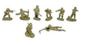 Toy-Soldiers WWII US Infantry Set #2 (16) Plastic Model Military Figure 1/32 Scale #172