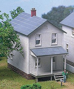 City-Classics Railroad Street Company House Kit (one house) HO Scale Model Railroad Building #111