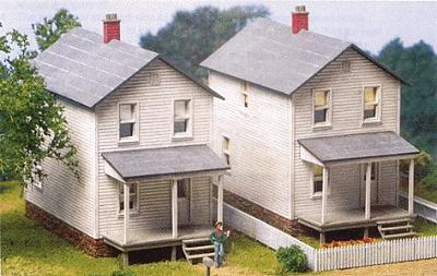 City Classics Railroad Street Company House 3-Pack Kit -- HO Scale Model Railroad Building -- #112