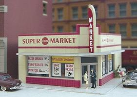 City-Classics West End Market Kit HO Scale Model Railroad Building #114