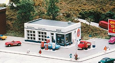 City-Classics Crafton Avenue Service Station Kit N Scale Model Railroad Building #401