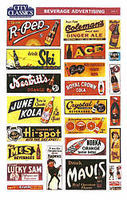 City-Classics BEVERAGE SIGNS HO Scale Model Railroad Building Accessory #503