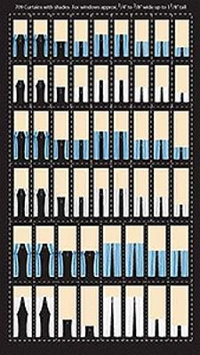 City-Classics Curtains With Shades For Windows HO Scale Model Railroad Buidling Accessory #709