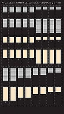 City-Classics Venetian Blinds & Pull Shades (50) HO Scale Model Railroad Buidling Accessory #710