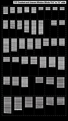 City Classics Crooked And Uneven Window Blinds Ho Scale