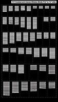 City-Classics Crooked and Uneven Window Blinds HO Scale Model Railroad Building Accessory #717