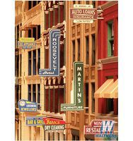City-Classics Unpainted Storefront Sign Kit (72 Pack) HO Scale Model Train Building Accessory #850