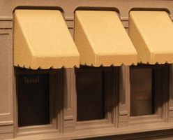 City-Classics Window Awning Set (30) HO Scale Model Railroad Building Accessory #900