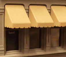 City-Classics Wide Awnings 1/2'' (12) HO Scale Model Railroad Building Accessory #950