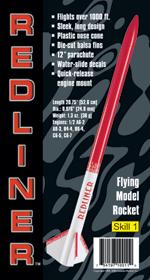 Custom Rockets Redliner Model Rocket Kit (Skill Level 1)