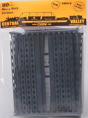Central Valley 30'' Heavy Duty Windowed Bridge Girders (5) -- HO Scale Model Railroad Bridge -- #19015