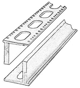 Central Valley Bridge Box Girder Sections - Kit (Plastic) -- Standard 24'' Punchplate 5 Sprues, 178'' 452.1cm Total & 58'' 147.3cm Seco - HO-Scale (5)