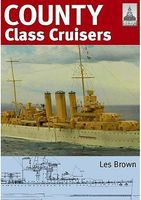 Classic-Warships Shipcraft- County Class Cruisers Military History Book #sc19