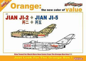 Cyber Jian Ji-2 + Jian Ji-5 Plastic Model Airplane Kit 1/72 Scale #2517