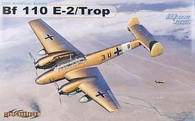Cyber Messerschmitt Bf 110E-2 Trop-Wing Tech Series Plastic Model Airplane Kit 1/32 Scale #3209