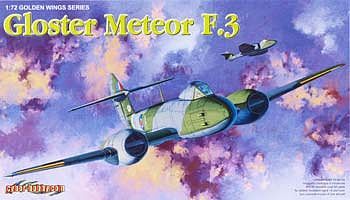 Cyber Gloster Meteor F.III Plastic Model Airplane Kit 1/72 Scale #5044