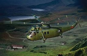 Cyber Westland WS-61 Sea King HC.4 Falklands War Plastic Model Helicopter Kit 1/72 Scale #5073