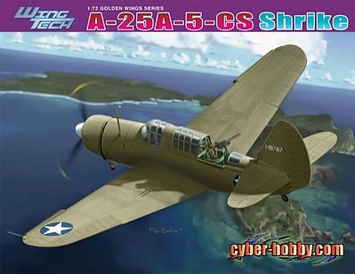 Cyber A-25A-5-CS Shrike Plastic Model Airplane Kit 1/72 Scale #5115