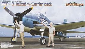 Cyber F6F-3 Hellcat with Flight Deck Wing Tech Series Plastic Model Airplane Kit 1/72 #5117