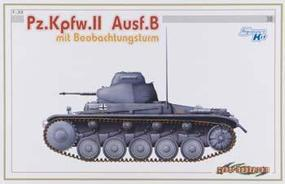 Pz.Kpfw.II Ausf.B with Beobachtungsturm Plastic Model Tank Kit 1/35 Scale #6295