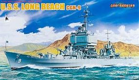 Cyber USS Long Beach CGN-9 Plastic Model Cruiser Kit 1/700 Scale #7091