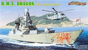 Cyber HMS Dragon Type 45 Destroyer Batch 2 Plastic Model Destroyer Kit 1/700 Scale #7109