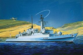Cyber HMS Antelope Type 21 Frigate-Falklands War Plastic Model Frigate Kit 1/700 Scale #7122