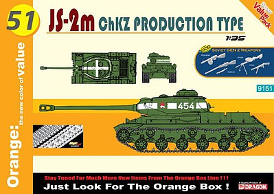 Cyber JS-2m ChZK Production Type (Orange) Plastic Model Military Vehicle Kit 1/35 Scale #9151