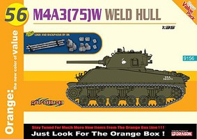 Cyber M4A3(75)W Welded Hull Plastic Model Military Vehicle Kit 1/35 Scale #9156