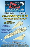 Daco AGM62 Walleye II ER Mk 23/30/37 TV-Guided Bomb Plastic Model Weapon Kit 1/48 Scale #4804