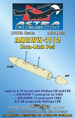 Daco AN/AWW7/12 Data-Link Pod (Resin Armament) Plastic Model Weapon Kit 1/48 Scale #4805