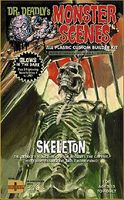 Dencomm Glow-in-the-Dark Skeleton Plastic Model Fantasy Figure 1/13 Scale #713