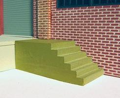 Depots-John Concrete Dock Steps 2/ - HO-Scale (2)