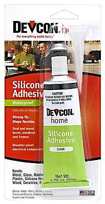 Clear Silicone Adhesive 1.76oz. Tube